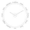 bílé designové hodiny