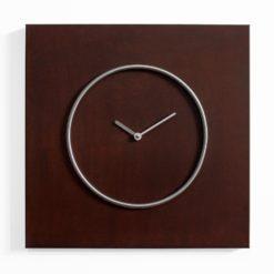 čtvercové hodiny z cortenové (rezavé) a nerez oceli
