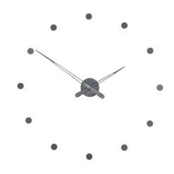 luxusní nástěnné hodiny s grafitovým povrchem