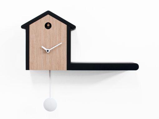 kyvadlové hodiny s kukačkou černé