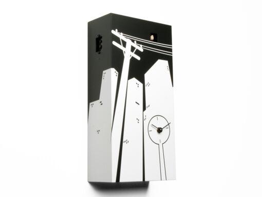 moderní kukačky s motivem města