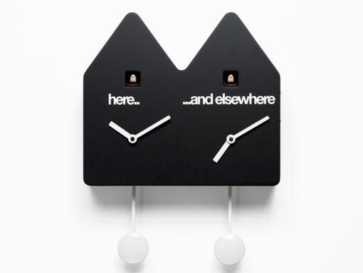 zdvojené kukačkové hodiny na stěnu